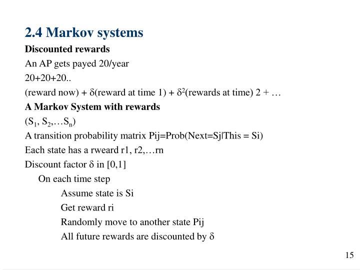 2.4 Markov systems