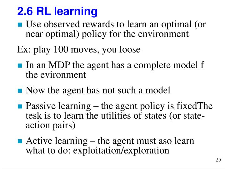 2.6 RL learning