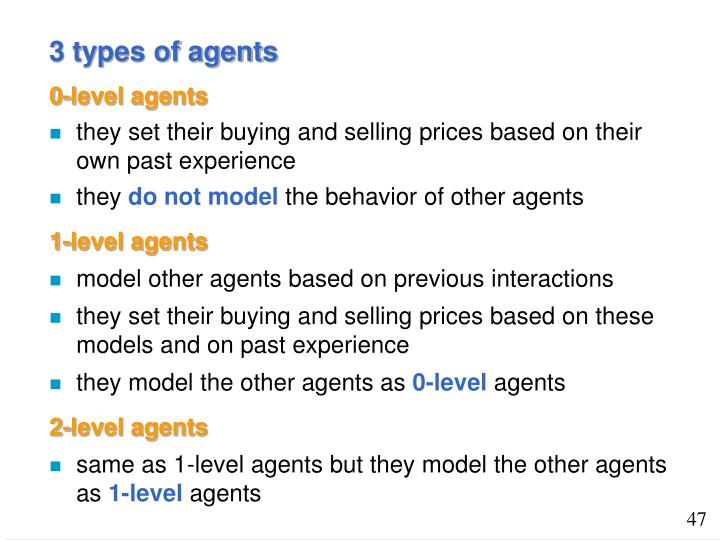3 types of agents