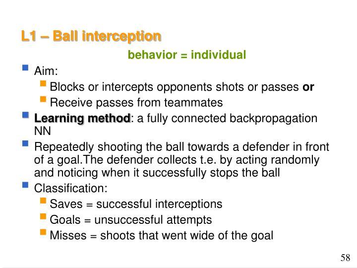 L1 – Ball interception