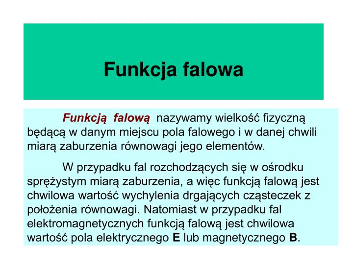 Funkcja falowa