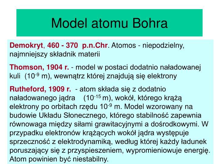Model atomu Bohra
