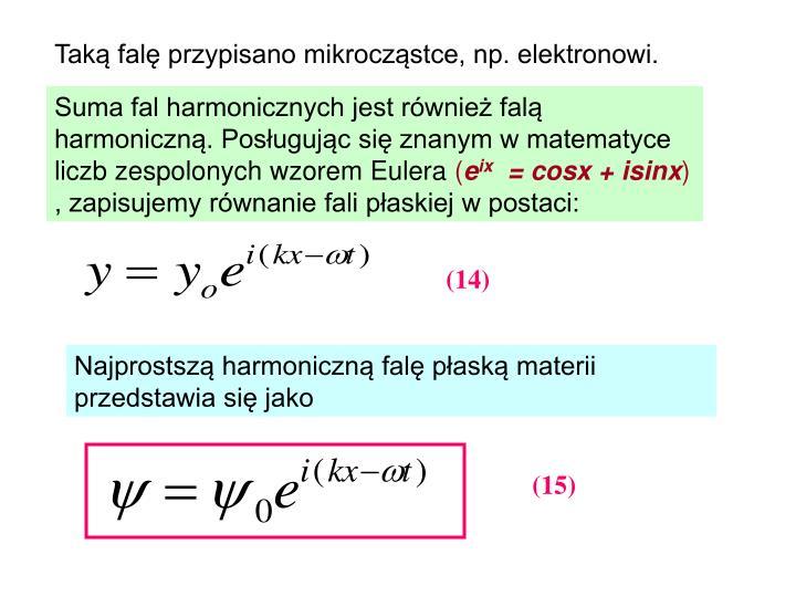 Taką falę przypisano mikrocząstce, np. elektronowi.