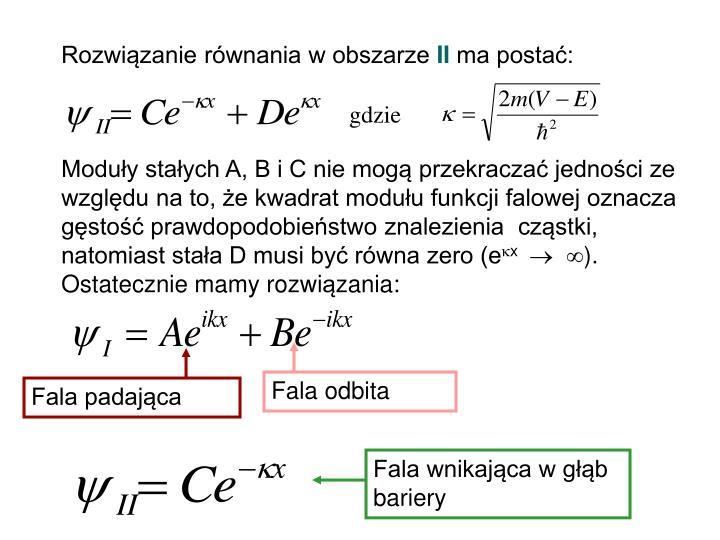 Rozwiązanie równania w obszarze