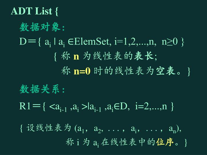 ADT List {