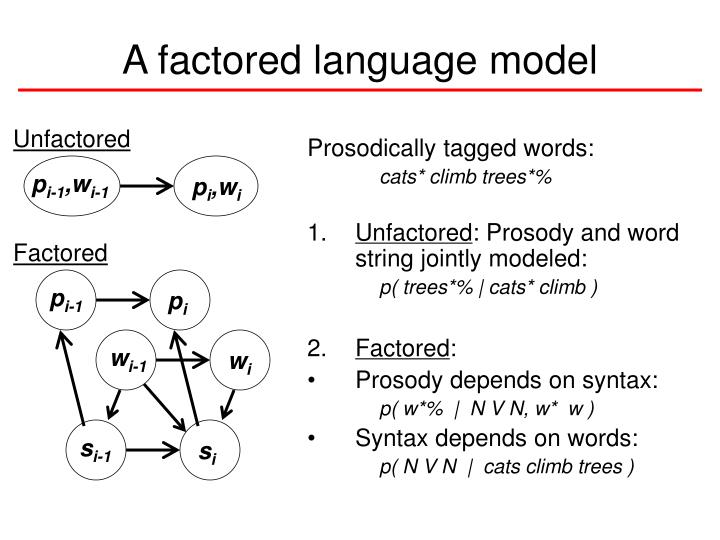 A factored language model
