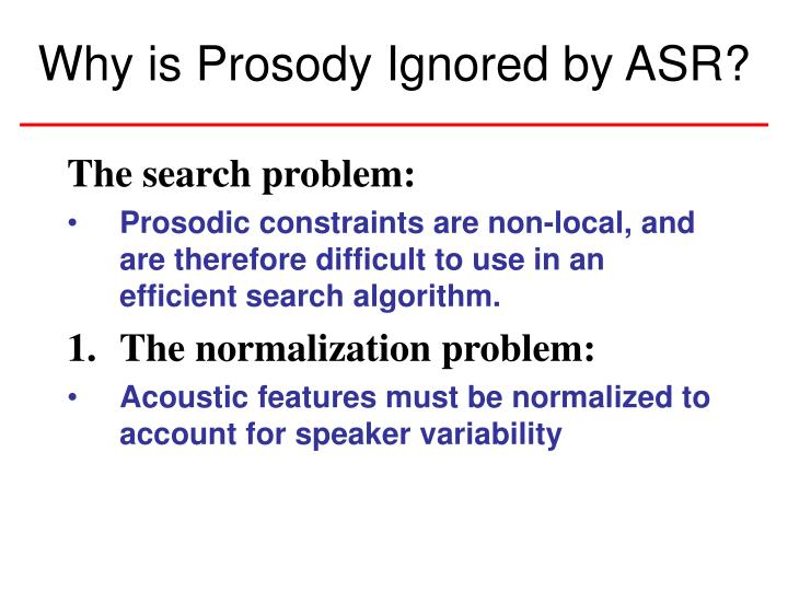 The search problem: