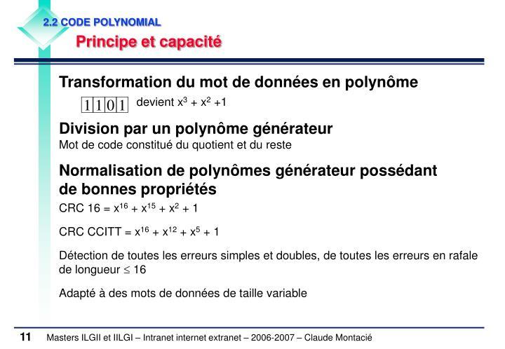 2.2 CODE POLYNOMIAL