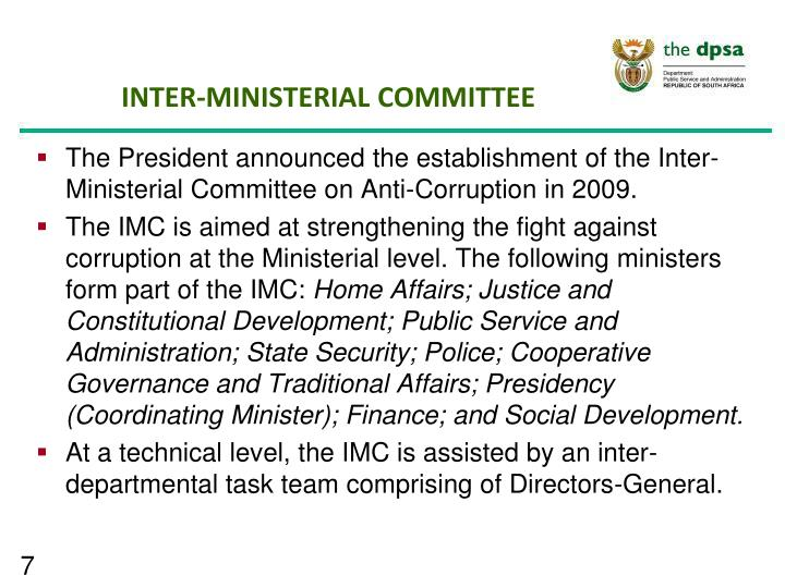 INTER-MINISTERIAL COMMITTEE