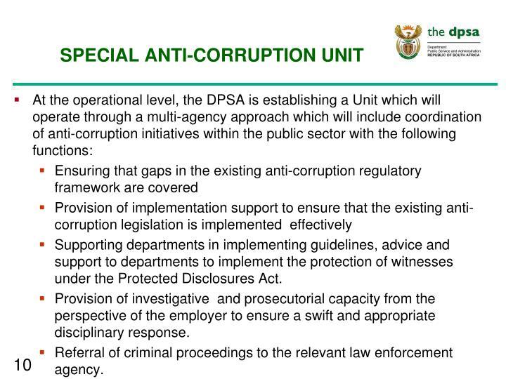 SPECIAL ANTI-CORRUPTION UNIT