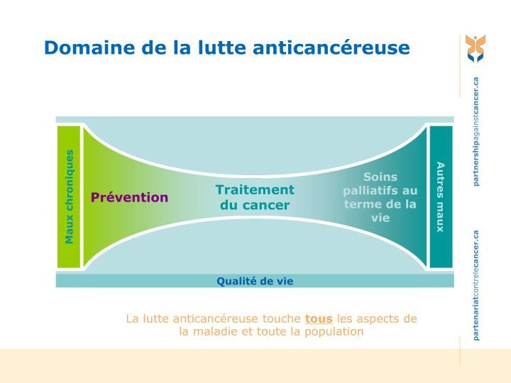 Domaine de la lutte anticancéreuse