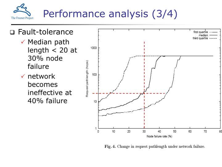 Performance analysis (3/4)