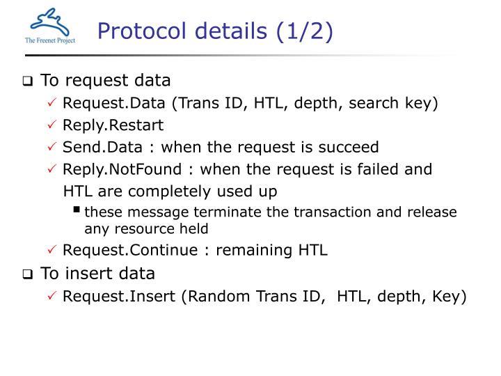 Protocol details (1/2)