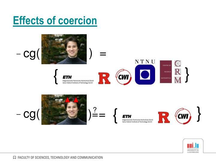 Effects of coercion