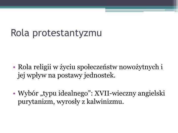 Rola protestantyzmu