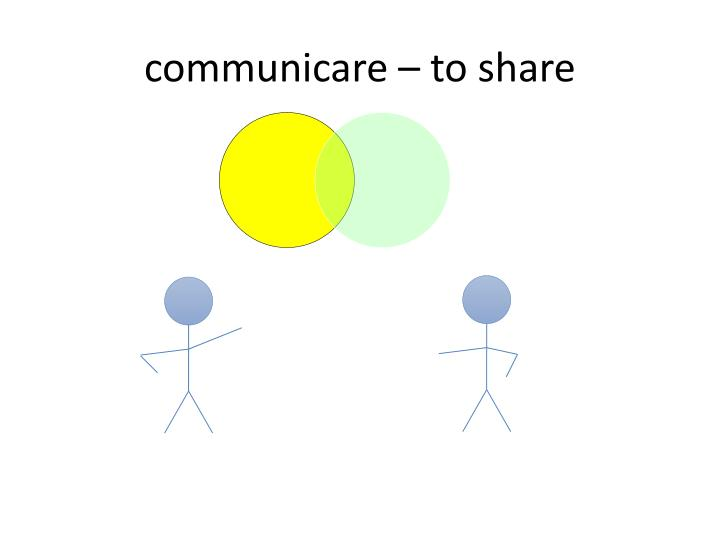 communicare – to share