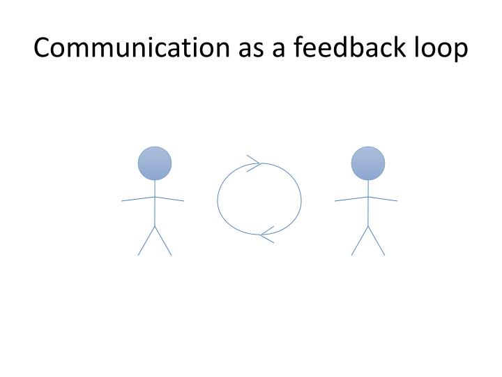 Communication as a feedback loop