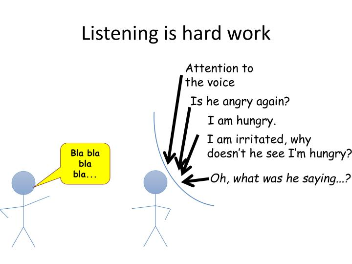 Listening is hard work