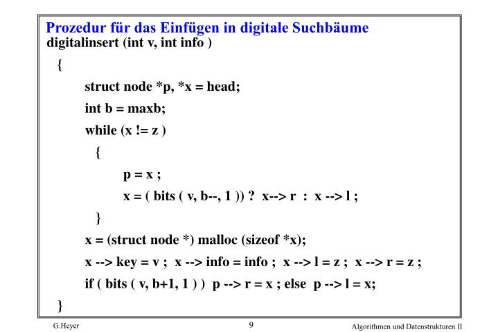digitalinsert (int v, int info )