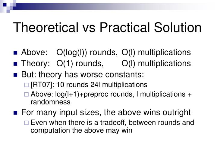 theoretical vs . practical