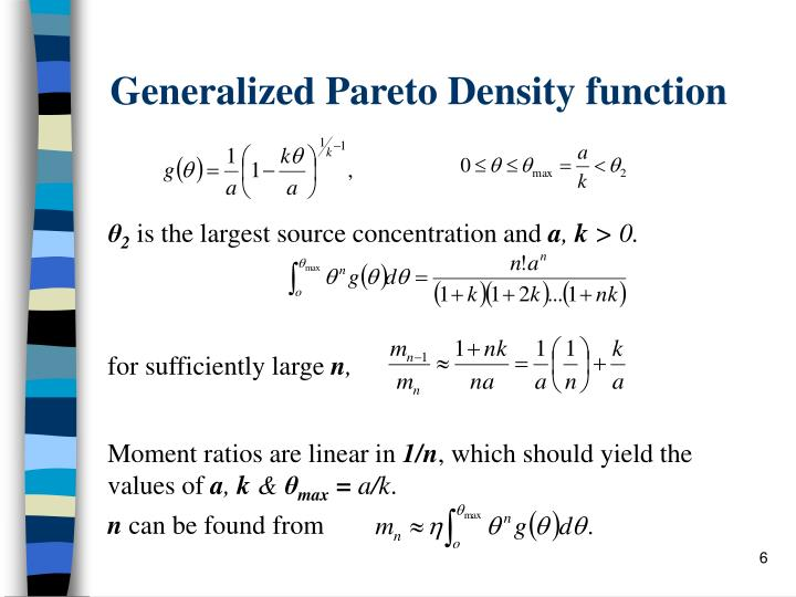 Generalized Pareto Density function