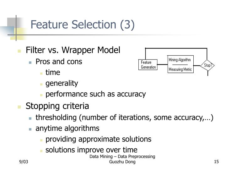 Feature Selection (3)