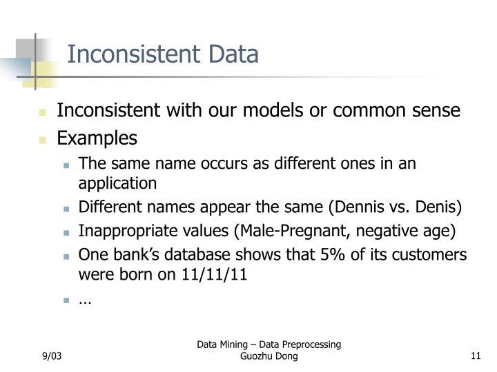Inconsistent Data