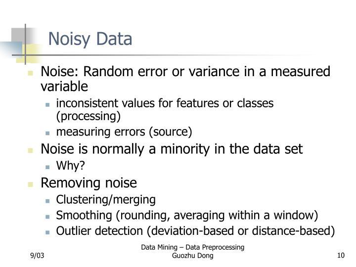 Noisy Data