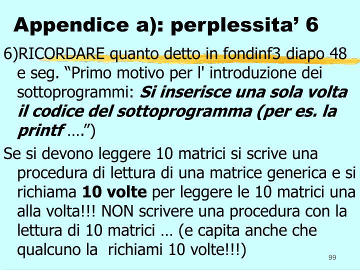 Appendice a): perplessita' 6