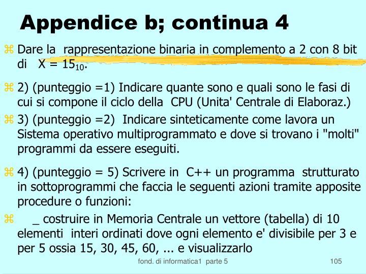 Appendice b; continua 4