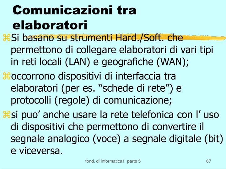 Comunicazioni tra elaboratori