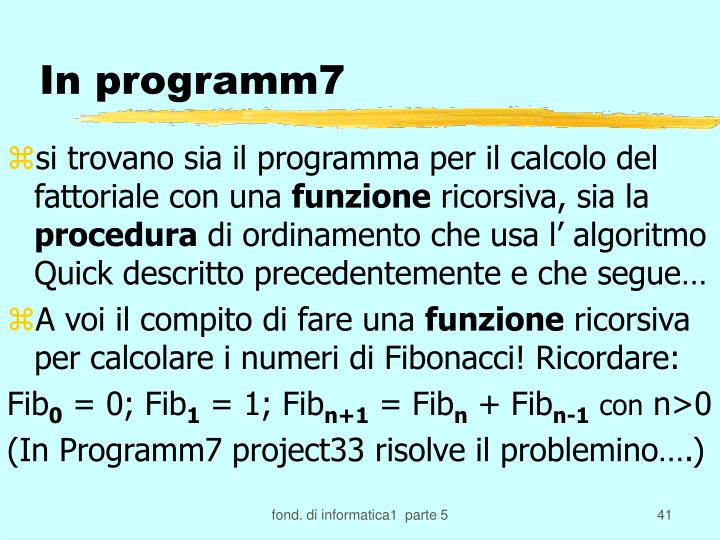 In programm7