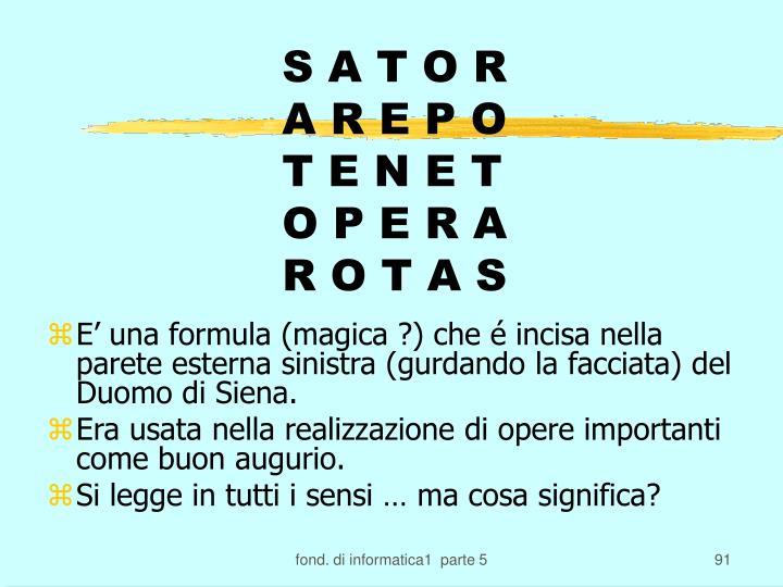 S A T O R