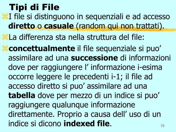 Tipi di File