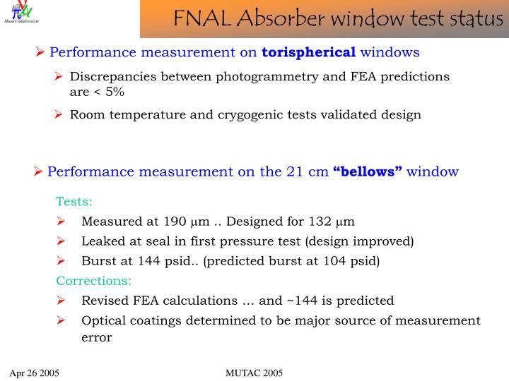 Performance measurement on