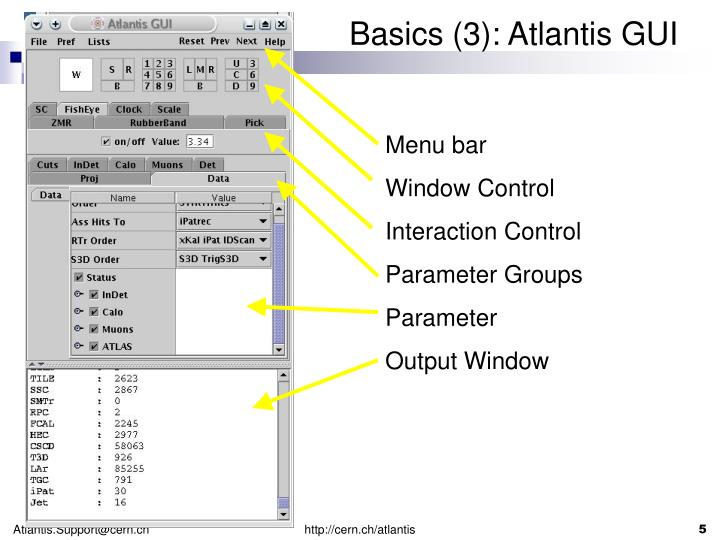 Basics (3): Atlantis GUI