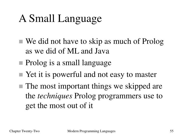 A Small Language