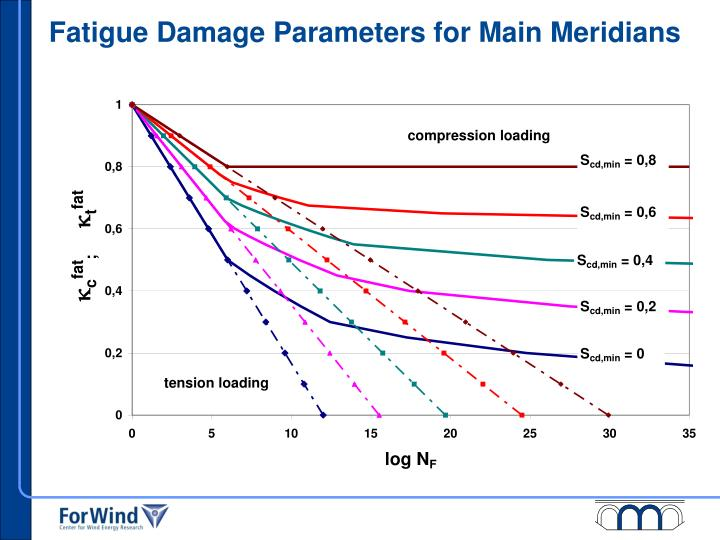 Fatigue Damage Parameters for Main Meridians