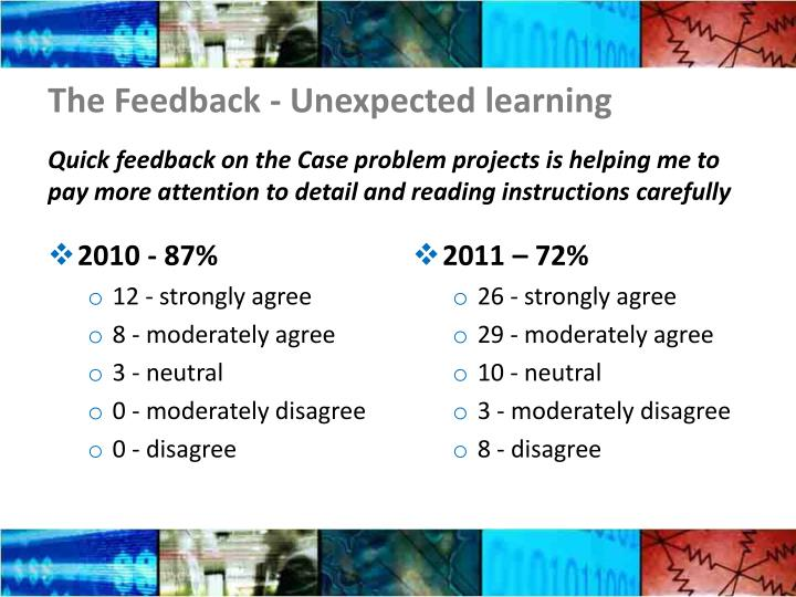 The Feedback - Unexpected learning