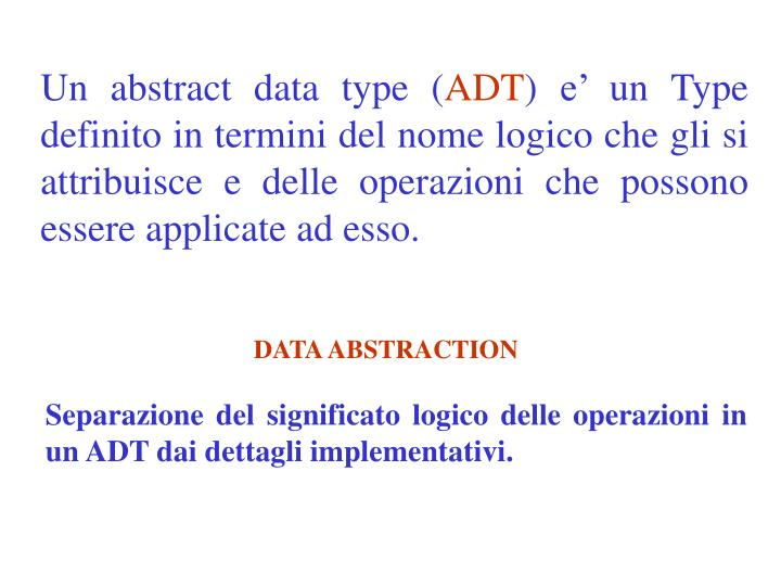 Un abstract data type (