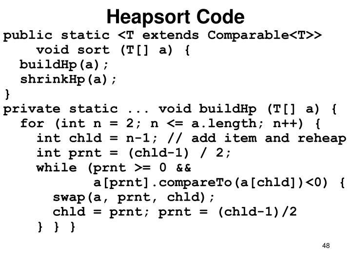 Heapsort Code