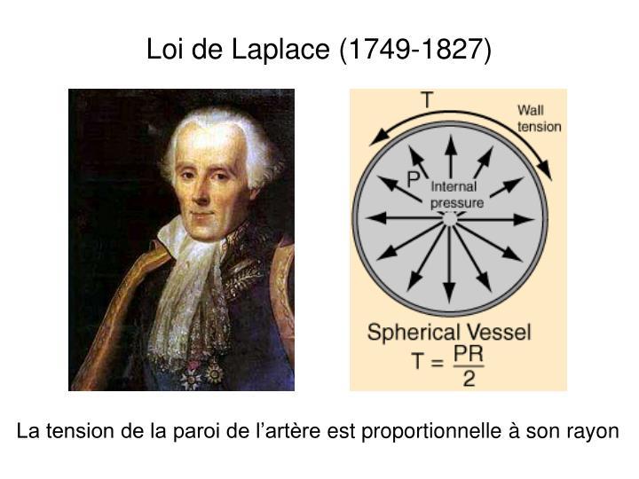 Loi de Laplace (1749-1827)