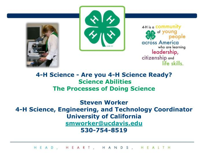4-H Science - Are you 4-H Science Ready?