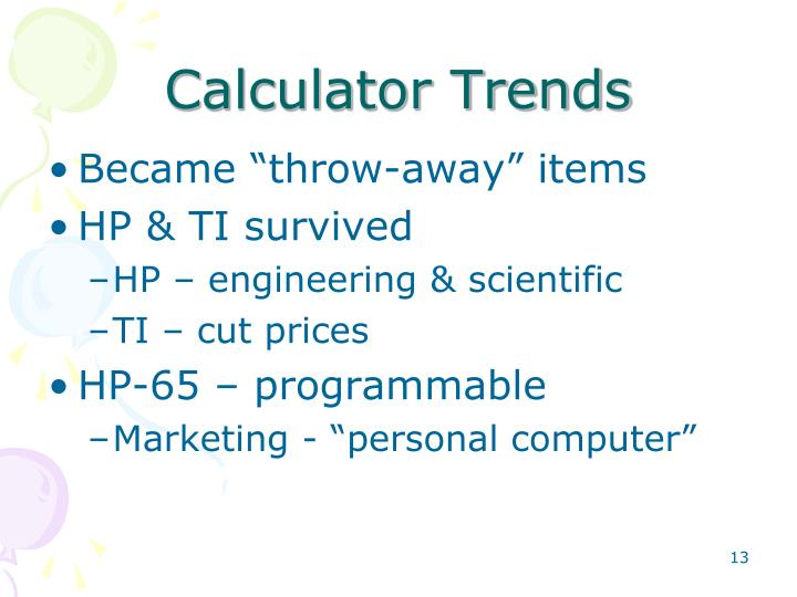Calculator Trends