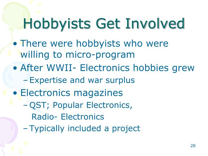 Hobbyists Get Involved