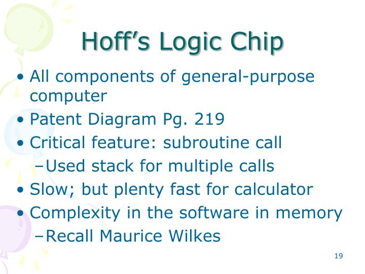 Hoff's Logic Chip