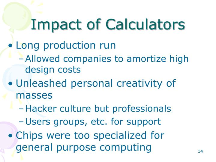 Impact of Calculators