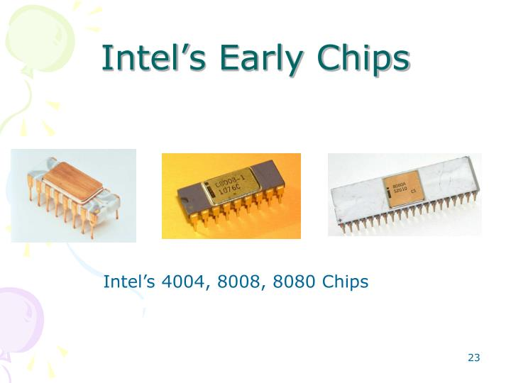 Intel's Early Chips