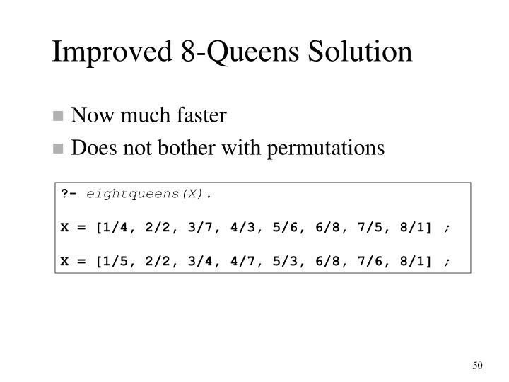 Improved 8-Queens Solution