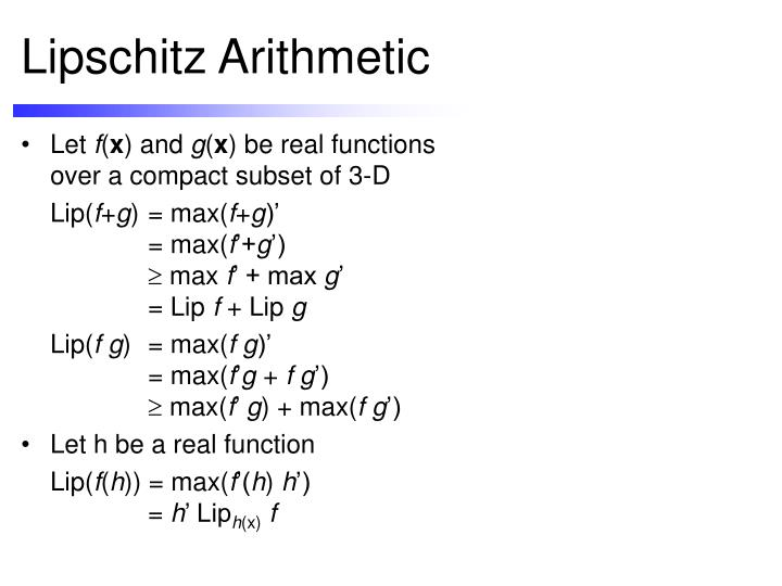 Lipschitz Arithmetic